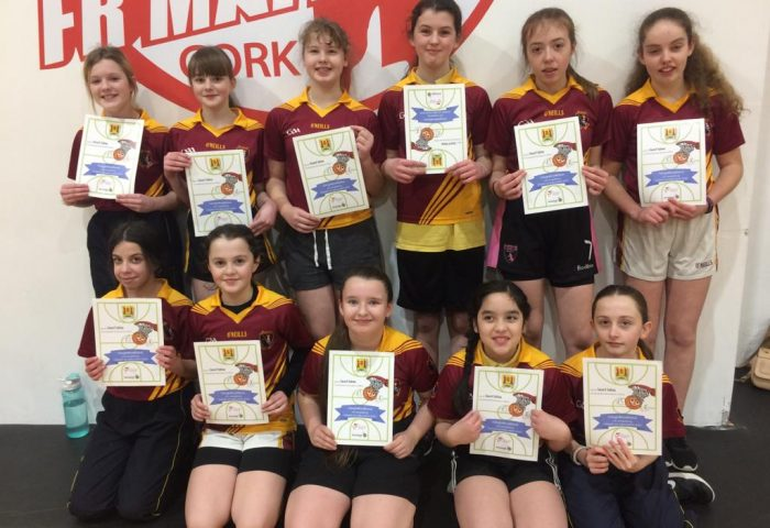 Bunscoil Girls Basketball team
