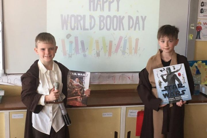 Celebrating World Book Day in Ms O'Neill & Ms Llewellyn's class